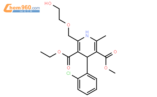 4-(2-chlorophenyl)-3-ethoxycarbonyl-2-(2-hydroxyethoxymethyl)-5-methoxycarbonyl-6-methyl-1,4-dihydropyridine