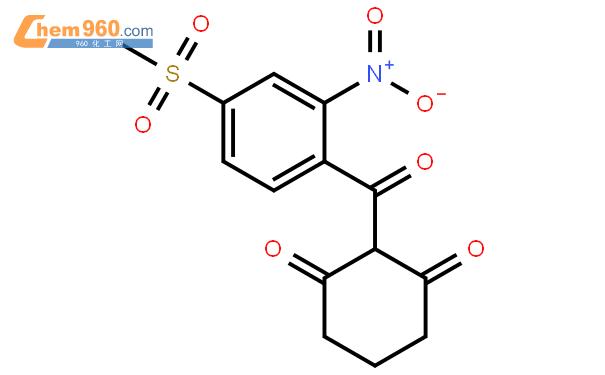 甲基磺草酮结构式图片 104206-82-8结构式图片