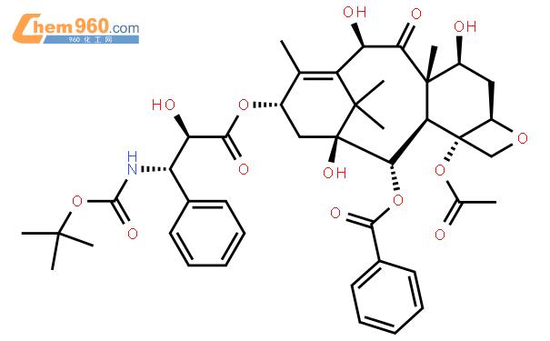 多烯紫杉醇结构式图片|114977-28-5结构式图片