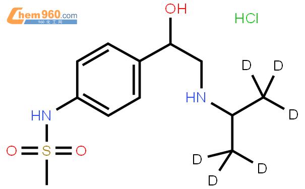 盐酸索他洛尔 D6结构式图片|1246820-85-8结构式图片