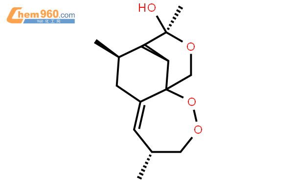 3,12-Epoxy-12H-pyrano[4,3-j]-1,2-benzodioxepin,decahydro-3,6,9-trimethyl-, (3R,5aS,6R,8aS,9R,12R,12aR)-結構式圖片|126189-95-5結構式圖片