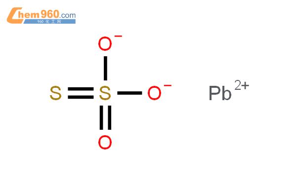 硫代硫酸鉛(II)