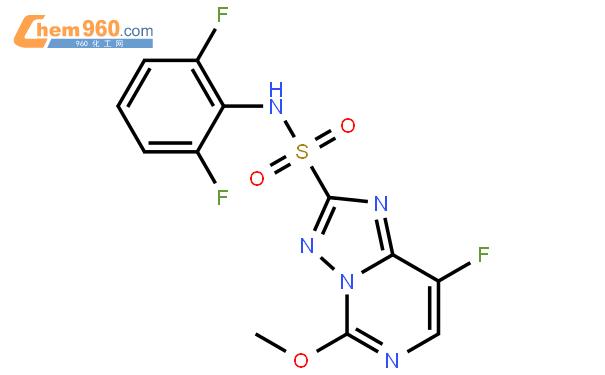 双氟磺草胺结构式图片 145701-23-1结构式图片