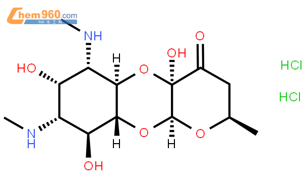 盐酸大观霉素结构式图片|21736-83-4结构式图片