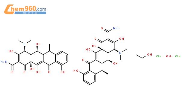 盐酸强力霉素结构式图片|24390-14-5结构式图片