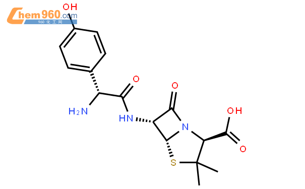 阿莫西林结构式图片|26787-78-0结构式图片