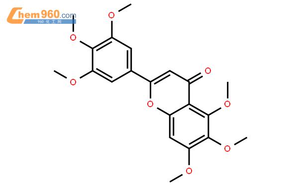 3',4',5,5',6,7-六甲氧基黄酮结构式图片 29043-07-0结构式图片