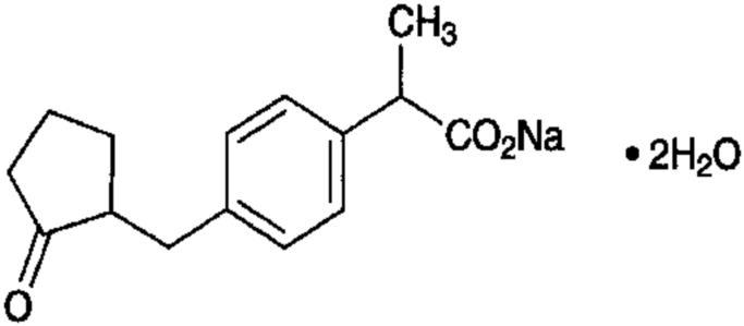 洛索洛芬钠结构式图片|80382-23-6结构式图片