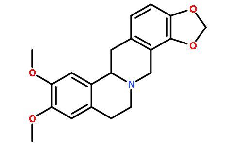 四氢表小檗碱结构式图片|38853-67-7结构式图片