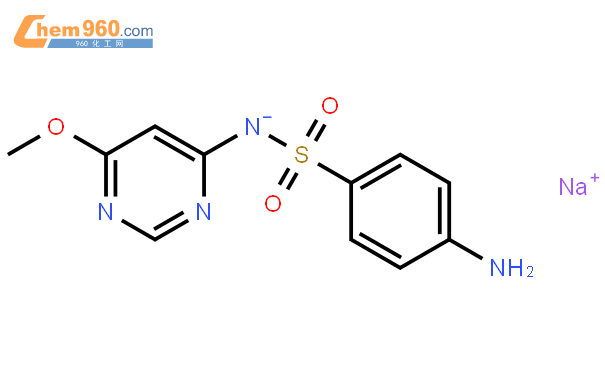 磺胺間甲氧基嘧啶鈉結構式圖片|38006-08-5結構式圖片
