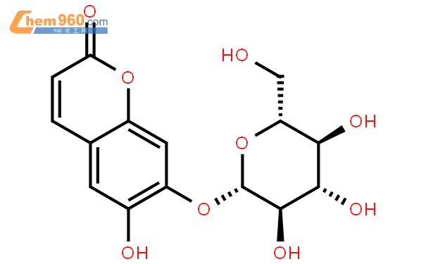 秦皮乙素-7-O-D-吡喃葡萄糖苷