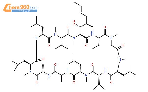 环孢素 A结构式图片|59865-13-3结构式图片