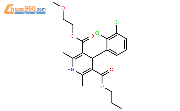 5-O-(2-methoxyethyl) 3-O-propyl 4-(2,3-dichlorophenyl)-2,6-dimethyl-1,4-dihydropyridine-3,5-dicarboxylate