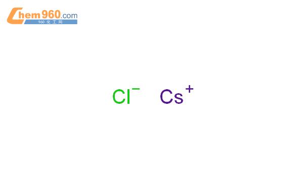 氯化铯结构式图片|7647-17-8结构式图片