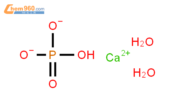 二水合磷酸氢钙结构式图片|7789-77-7结构式图片