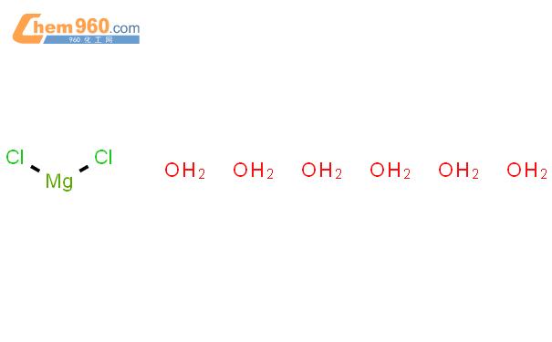 六水氯化镁结构式图片|7791-18-6结构式图片