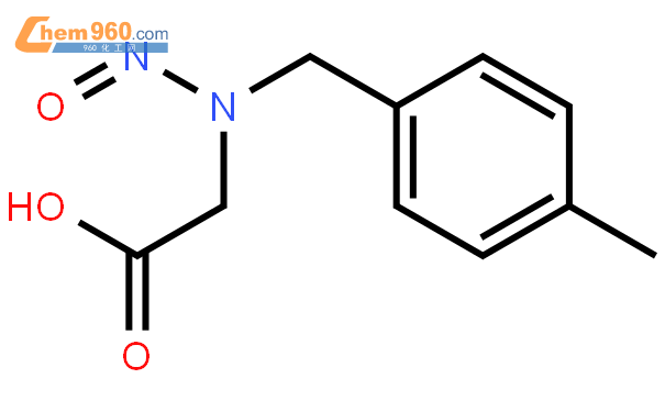 Acetic acid,2-[[(4-methylphenyl)methyl]nitrosoamino]-结构式图片|90918-65-3结构式图片