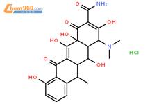 盐酸多西环素结构式图片|10592-13-9结构式图片