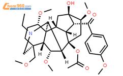 草乌甲素结构式图片|107668-79-1结构式图片