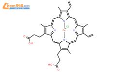 血红素结构式图片|16009-13-5结构式图片