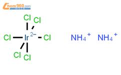 氯铱酸铵结构式图片 16940-92-4结构式图片