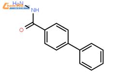 4-苯基-苯甲酰肼结构式图片|18622-23-6结构式图片图片