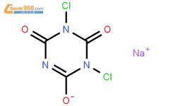 二氯异氰尿酸钠结构式图片|2893-78-9结构式图片