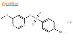 磺胺间甲氧基嘧啶钠结构式图片 38006-08-5结构式图片