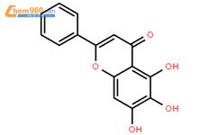 黄芩素结构式图片|491-67-8结构式图片