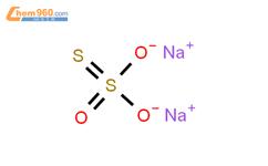 硫代硫酸鈉, 無水結構式圖片 7772-98-7結構式圖片