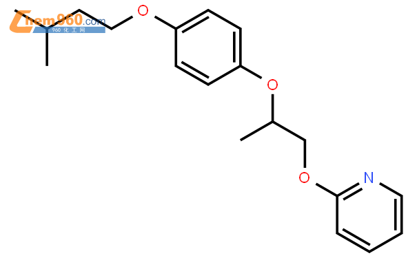 Pyridine, 2-[2-[4-(3-methylbutoxy)phenoxy]propoxy]-结构式图片|107003-72-5结构式图片
