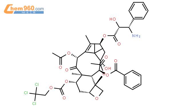 N-Debenzoyl-7-{[(2,2,2,-trichloroethyl)oxy]carbonyl}paclitaxel结构式图片 114915-15-0结构式图片