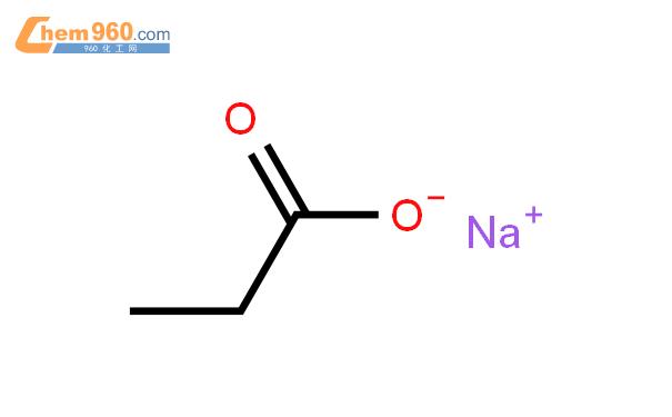 丙酸钠结构式图片|137-40-6结构式图片