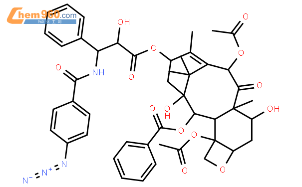 Benzenepropanoic acid, b-[(4-azidobenzoyl)amino]-a-hydroxy-,(2aR,4S,4aS,6R,9S,11S,12S,12aR,12bS)-6,12b-bis(acetyloxy)-12-(benzoyloxy)-2a,3,4,4a,5,6,9,10,11,12,12a,12b-dodecahydro-4,11-dihydroxy-4a,8,13,13-tetramethyl-5-oxo-7,11-methano-1H-cyclodeca[3,4]benz[1,2-b]oxet-9-ylester, (aR,bS)-结构式图片|153695-19-3结构式图片