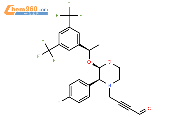 4-[(2R,3S)-2-[(1R)-1-[3,5-bis(trifluoromethyl)phenyl]ethoxy]-3-(4-fluorophenyl)morpholin-4-yl]but-2-ynal