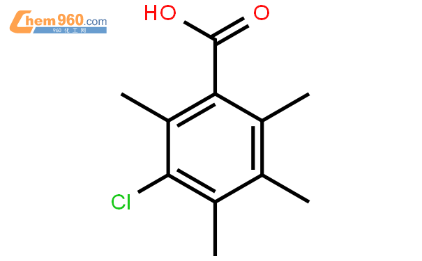 Benzoic acid, 3-chloro-2,4,5,6-tetramethyl-结构式图片|28195-34-8结构式图片