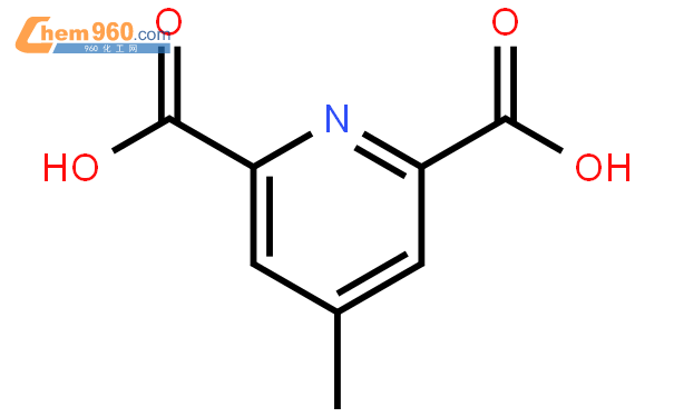2,6-Pyridinedicarboxylicacid, 4-methyl-结构式