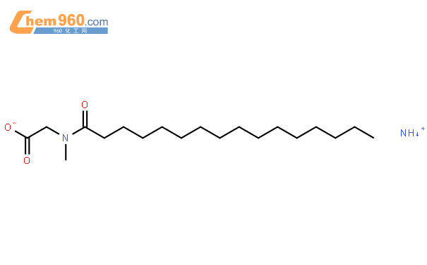 Glycine,N-methyl-N-(1-oxohexadecyl)-, ammonium salt (9CI)结构式图片|41683-01-6结构式图片