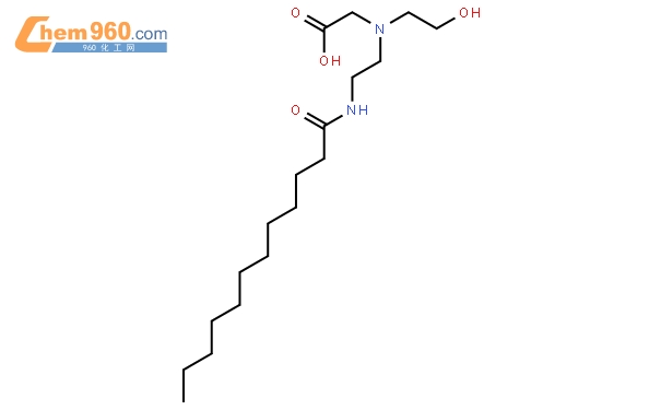 Glycine, N-(2-hydroxyethyl)-N-[2-[(1-oxododecyl)amino]ethyl]-结构式图片|45278-24-8结构式图片