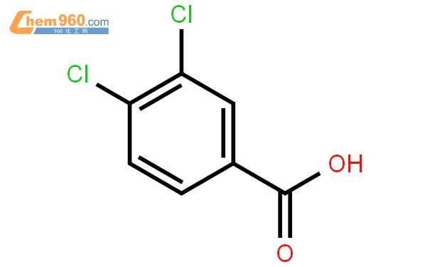 3,4-二氯苯甲酸结构式图片|51-44-5结构式图片