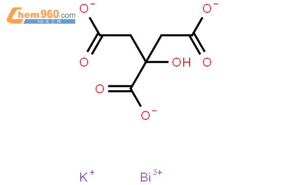 枸橼酸铋钾结构式图片|57644-54-9结构式图片