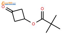 3-氧代环丁基三甲基乙酸盐结构式图片 1071194-23-4结构式图片