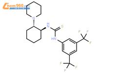 �n��n�_n-[3,5-双(三氟甲基)苯基]-n\'-[(1s,2s)-2-(1-哌啶基)环己基]硫脲结构