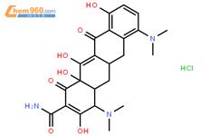 盐酸米诺环素结构式图片 13614-98-7结构式图片