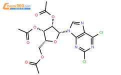 [3,4-Bis(acetyloxy)-5-(2,6-dichloro-9H-purin-9-yl)oxolan-2-yl]methyl acetate(3056-18-6)
