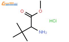 L-叔亮氨酸甲酯盐酸盐结构式图片|63038-27-7结构式图片