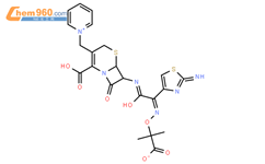 (6R,7R)-7-[[(2E)-2-(2-amino-1,3-thiazol-4-yl)-2-(2-carboxylatopropan-2-yloxyimino)acetyl]amino]-8-oxo-3-(pyridin-1-ium-1-ylmethyl)-5-thia-1-azabicyclo[4.2.0]oct-2-ene-2-carboxylate,hydron