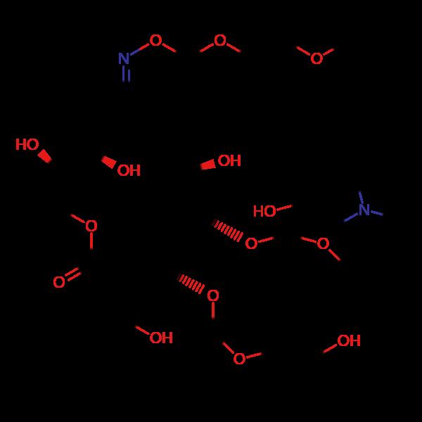 2-羟甲基罗红霉素结构式图片|结构式图片